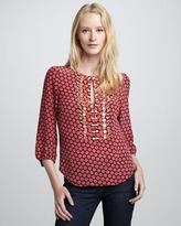 Nanette Lepore Brilliant Printed Silk Top