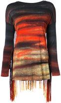 Raquel Allegra tassel detail long sleeved T-shirt