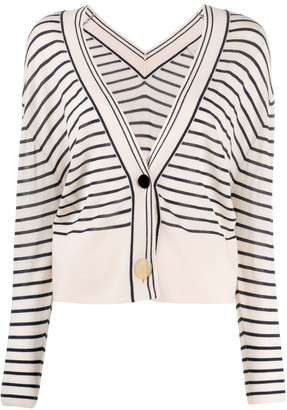 Forte Forte Striped Loose-Fit Cardigan