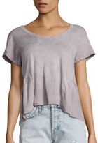 Current/Elliott The Girlie Cotton Peplum Tee