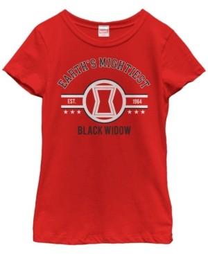 Fifth Sun Marvel Big Girl's Earth's Mightiest Heroes Black Widow Short Sleeve T-Shirt