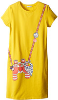 Little Marc Jacobs Short Sleeve Dress with Fancy Illustration (Big Kids)