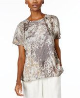 Eileen Fisher Silk Printed Top, Regular & Petite