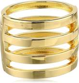Kenneth Jay Lane Gold-Plated Four-Row Hinged Bracelet