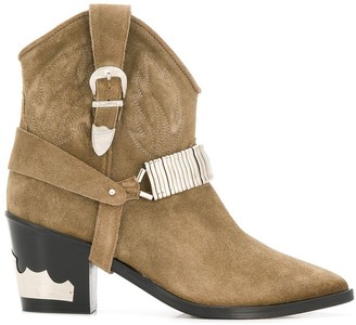 Toga Cowboy Ankle Boots