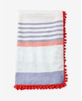 Express pom fringe stripe scarf