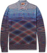 Missoni - Slim-fit Space-dyed Wool And Cotton-blend Polo Shirt