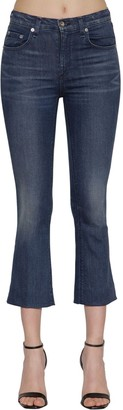 Rag & Bone Hana Mid Rise Flared Cotton Denim Jeans