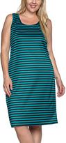 Black & Aqua Stripe Bodycon Dress - Plus