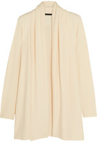 The Row Sua Draped Stretch-crepe Cardigan - Ivory