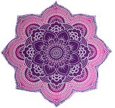 Lotus Mandala Tapestry Beach Towel