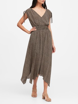 Banana Republic Petite Giraffe Print Midi Dress