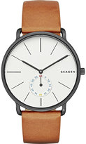 Skagen Skw6216 Hagen Ion-plated Stainless Steel And Leather Watch