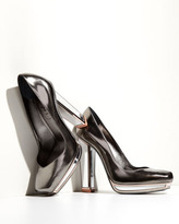 Yves Saint Laurent Metallic Mirror-Heeled Pump