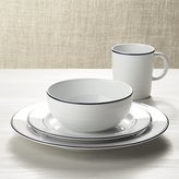 Crate & Barrel Roulette Blue Band Dinnerware
