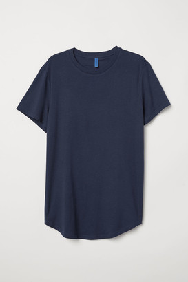 H&M Long Fit T-shirt - Blue