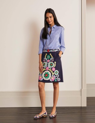 Riley Embroidered Mini Skirt