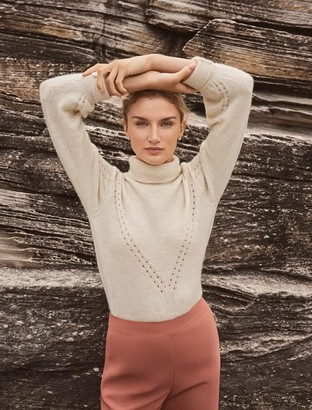 Forever New Nadia Roll-Neck Jumper - Porcelain - l