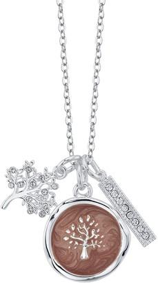 Lovethislife LovethisLife Crystal Tree & Bar Pendant Necklace