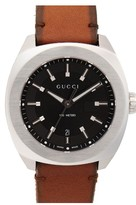 Gucci Men's Leather Strap Watch, 44Mm
