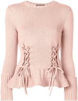 Alexander McQueen lace-up detailed jumper