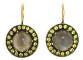 Andrea Fohrman Grey Moonstone Kat Earrings with Yellow Sapphires - Rose Gold
