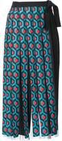 DELPOZO fringed wrap maxi skirt