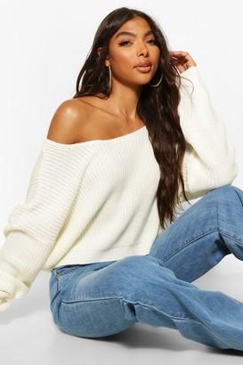 boohoo Tall V Back Crop Sweater