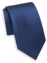 Saks Fifth Avenue Neat Diamond Silk Tie