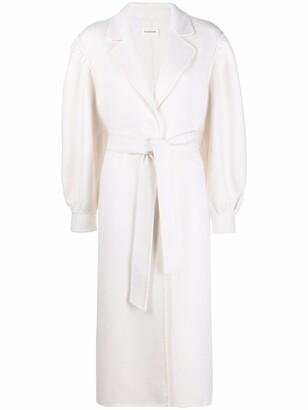 P.A.R.O.S.H. Long Tie-Waist Wool Coat
