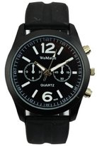 Next Men's Big Round Dial Silicone Band Analog Quartz Wrist Watch WTH2357