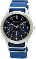 Kenneth Cole New York Men's Blue Nylon Strap Watch 44mm 10027883