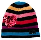 Sonia Rykiel Girls' Striped Wool Beanie