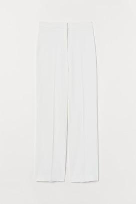 H&M Wide-leg Suit Pants - White