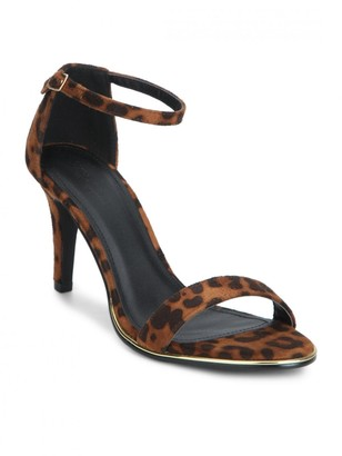 Linzi Truffle Collection Leopard Print Open Toe Heel Sandals