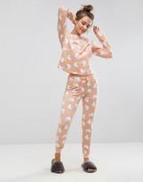 Asos Bunny Print Long Sleeve Tee and Legging Pajama Set