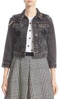 Marc Jacobs Women's Embellished Shrunken Denim Jacket