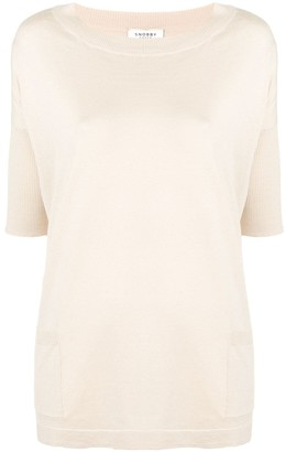 Snobby Sheep short-sleeved knitted top