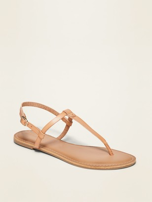 Old Navy Faux-Leather T-Strap Sandals for Women