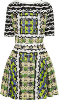 Peter Pilotto Natalie printed silk-blend mini dress