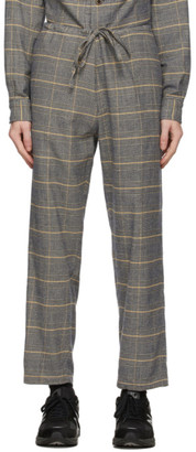 ts(s) tss Navy and Yellow Check Drawstring Trousers