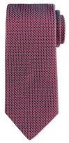 Eton Neat Woven Basket Tie, Red