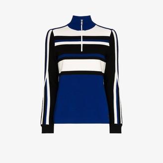 Bogner Half-Zip Striped Sweater