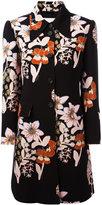 L'Autre Chose floral print coat - women - Cupro/Polyester/Spandex/Elastane - 42