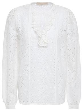 Vanessa Bruno Lili Rose Broderie Anglaise Cotton Blouse