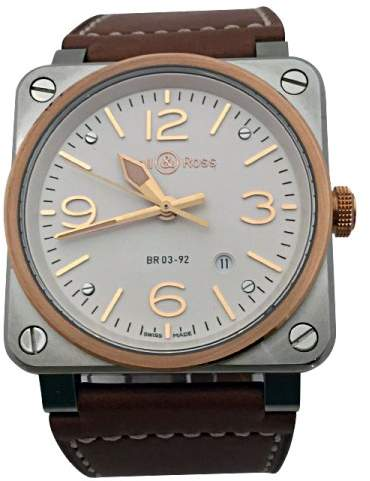 Bell & Ross Golden Heritage BR0392 Stainless Steel & Rose Gold 42mm Mens Watch