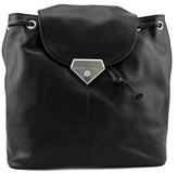 Linea Pelle Roosevelt Women Leather Black Backpack.