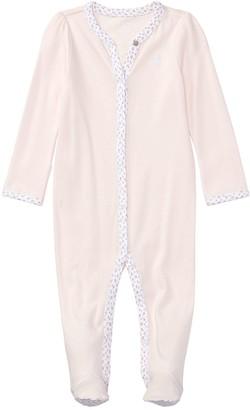 Ralph Lauren Baby Girls Classic All-In-One - Pink