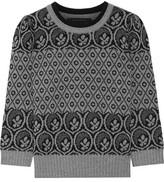 Marc Jacobs Metallic Fair Isle Wool-blend Sweater - Gray