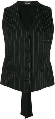 Styland pinstripe buttoned waistcoat